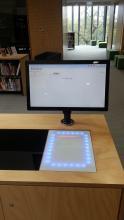 Arcus in desk self service kiosk